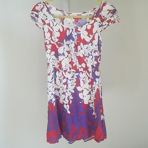 Elle tropical floral dress